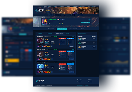 GYO Esports and Gaming Analytics Screenshot - Farm System and Recruiting System for Esports